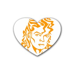 The King Of Pop Heart Coaster (4 Pack)