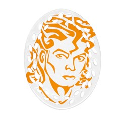 The King Of Pop Oval Filigree Ornament (two Sides)