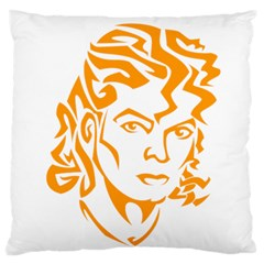 The King Of Pop Large Flano Cushion Case (two Sides)
