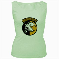 Metal Gear Solid Skull Skulls Women s Green Tank Top
