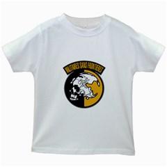 Metal Gear Solid Skull Skulls Kids White T Shirts