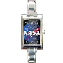 Nasa Logo Rectangle Italian Charm Watch
