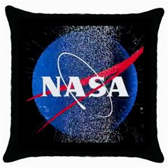 Nasa Logo Throw Pillow Case (black) by Samandel