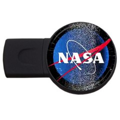 Nasa Logo Usb Flash Drive Round (2 Gb)