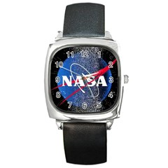 Nasa Logo Square Metal Watch