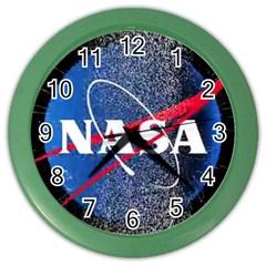 Nasa Logo Color Wall Clocks