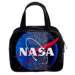 Nasa Logo Classic Handbags (2 Sides) by Samandel