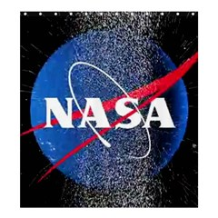 Nasa Logo Shower Curtain 66  X 72  (large)