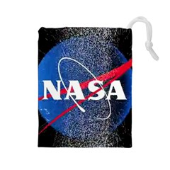 Nasa Logo Drawstring Pouches (large)