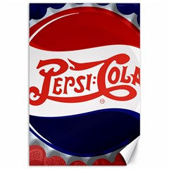 Pepsi Cola Cap Canvas 12  X 18