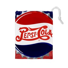 Pepsi Cola Cap Drawstring Pouches (large)