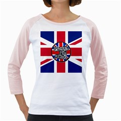 Punk Not Dead Music Rock Uk United Kingdom Flag Girly Raglans