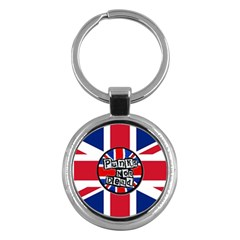 Punk Not Dead Music Rock Uk United Kingdom Flag Key Chains (round)