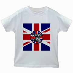 Punk Not Dead Music Rock Uk United Kingdom Flag Kids White T Shirts