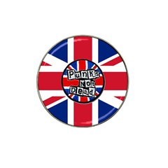 Punk Not Dead Music Rock Uk United Kingdom Flag Hat Clip Ball Marker