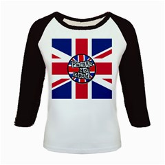 Punk Not Dead Music Rock Uk United Kingdom Flag Kids Baseball Jerseys