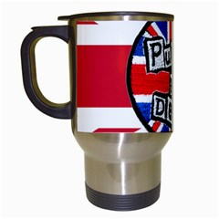 Punk Not Dead Music Rock Uk United Kingdom Flag Travel Mugs (white) by Samandel