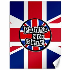 Punk Not Dead Music Rock Uk United Kingdom Flag Canvas 36  X 48