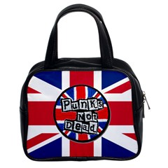 Punk Not Dead Music Rock Uk United Kingdom Flag Classic Handbags (2 Sides)