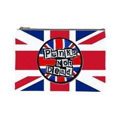 Punk Not Dead Music Rock Uk United Kingdom Flag Cosmetic Bag (large)