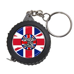 Punk Not Dead Music Rock Uk United Kingdom Flag Measuring Tape