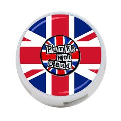 Punk Not Dead Music Rock Uk United Kingdom Flag 4 Port Usb Hub (one Side)