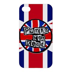Punk Not Dead Music Rock Uk United Kingdom Flag Apple Iphone 4/4s Hardshell Case