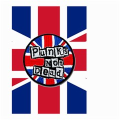 Punk Not Dead Music Rock Uk United Kingdom Flag Small Garden Flag (two Sides)