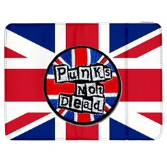Punk Not Dead Music Rock Uk United Kingdom Flag Samsung Galaxy Tab 7  P1000 Flip Case by Samandel