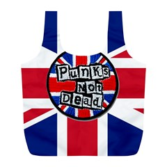 Punk Not Dead Music Rock Uk United Kingdom Flag Full Print Recycle Bags (l)