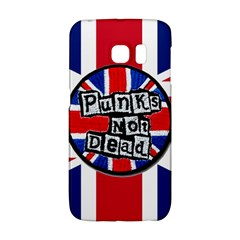 Punk Not Dead Music Rock Uk United Kingdom Flag Galaxy S6 Edge