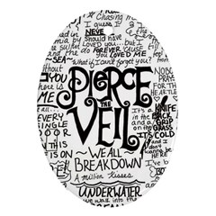 Pierce The Veil Music Band Group Fabric Art Cloth Poster Ornament (oval) by Samandel