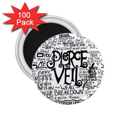 Pierce The Veil Music Band Group Fabric Art Cloth Poster 2 25  Magnets (100 Pack)  by Samandel