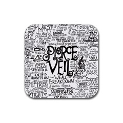 Pierce The Veil Music Band Group Fabric Art Cloth Poster Rubber Square Coaster (4 Pack)  by Samandel