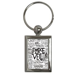 Pierce The Veil Music Band Group Fabric Art Cloth Poster Key Chains (rectangle)