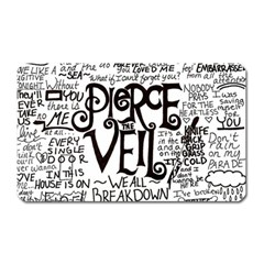 Pierce The Veil Music Band Group Fabric Art Cloth Poster Magnet (rectangular) by Samandel
