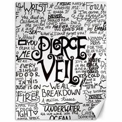 Pierce The Veil Music Band Group Fabric Art Cloth Poster Canvas 12  X 16   by Samandel