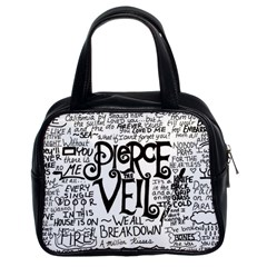 Pierce The Veil Music Band Group Fabric Art Cloth Poster Classic Handbags (2 Sides) by Samandel