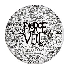 Pierce The Veil Music Band Group Fabric Art Cloth Poster Ornament (round Filigree) by Samandel