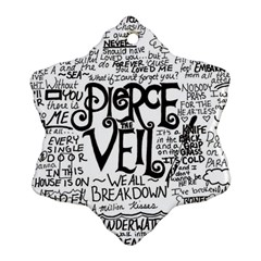 Pierce The Veil Music Band Group Fabric Art Cloth Poster Snowflake Ornament (two Sides)