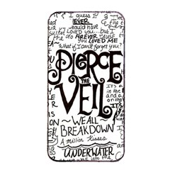 Pierce The Veil Music Band Group Fabric Art Cloth Poster Apple Iphone 4/4s Seamless Case (black) by Samandel