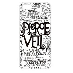 Pierce The Veil Music Band Group Fabric Art Cloth Poster Apple Iphone 5 Seamless Case (white) by Samandel
