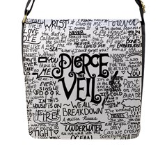 Pierce The Veil Music Band Group Fabric Art Cloth Poster Flap Messenger Bag (l)  by Samandel