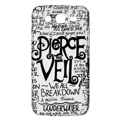 Pierce The Veil Music Band Group Fabric Art Cloth Poster Samsung Galaxy Mega 5 8 I9152 Hardshell Case  by Samandel