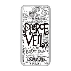 Pierce The Veil Music Band Group Fabric Art Cloth Poster Apple Iphone 5c Seamless Case (white) by Samandel