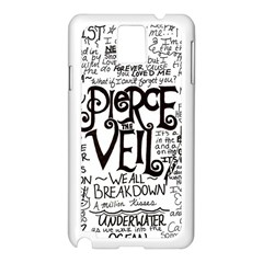 Pierce The Veil Music Band Group Fabric Art Cloth Poster Samsung Galaxy Note 3 N9005 Case (white) by Samandel