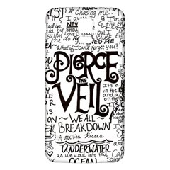 Pierce The Veil Music Band Group Fabric Art Cloth Poster Samsung Galaxy S5 Back Case (white) by Samandel