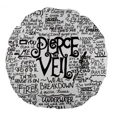 Pierce The Veil Music Band Group Fabric Art Cloth Poster Large 18  Premium Flano Round Cushions