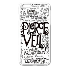 Pierce The Veil Music Band Group Fabric Art Cloth Poster Apple Iphone 6 Plus/6s Plus Enamel White Case by Samandel