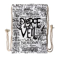 Pierce The Veil Music Band Group Fabric Art Cloth Poster Drawstring Bag (large) by Samandel